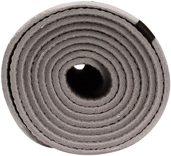 Schreuders Sr Fit Colchoneta Fitness/Yoga Pvc-173X61 Esterilla Unisex Adulto, (Gris), 173x61