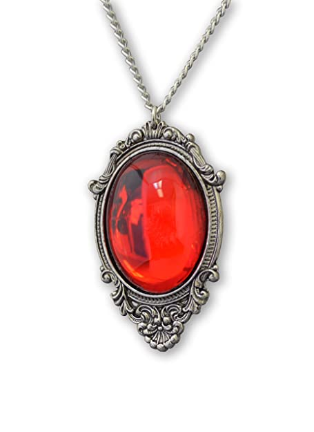 Amazon blood red cabochon in silver finish pewter frame pendant blood red cabochon in silver finish pewter frame pendant necklace aloadofball Choice Image