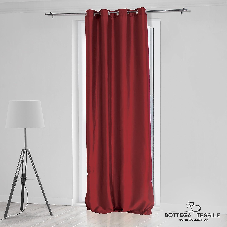 Rideau pour intérieur modèle Fabiana, style moderne, dimensions 140 x 280 cm, disponible en 9couleurs unies 140 x 280 bordeaux Bottega Tessile