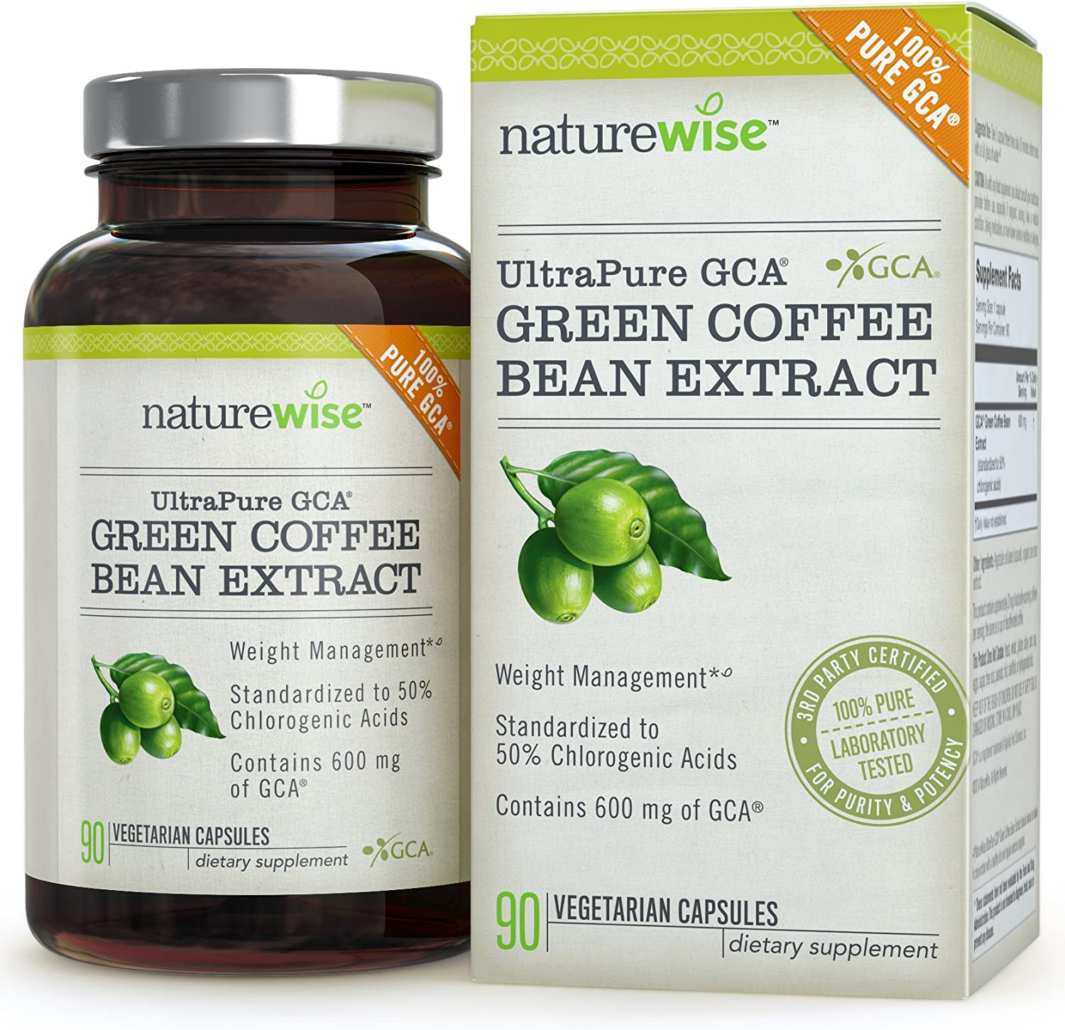 Amazon Com Naturewise Ultrapure Gca Green Coffee Bean Extract For