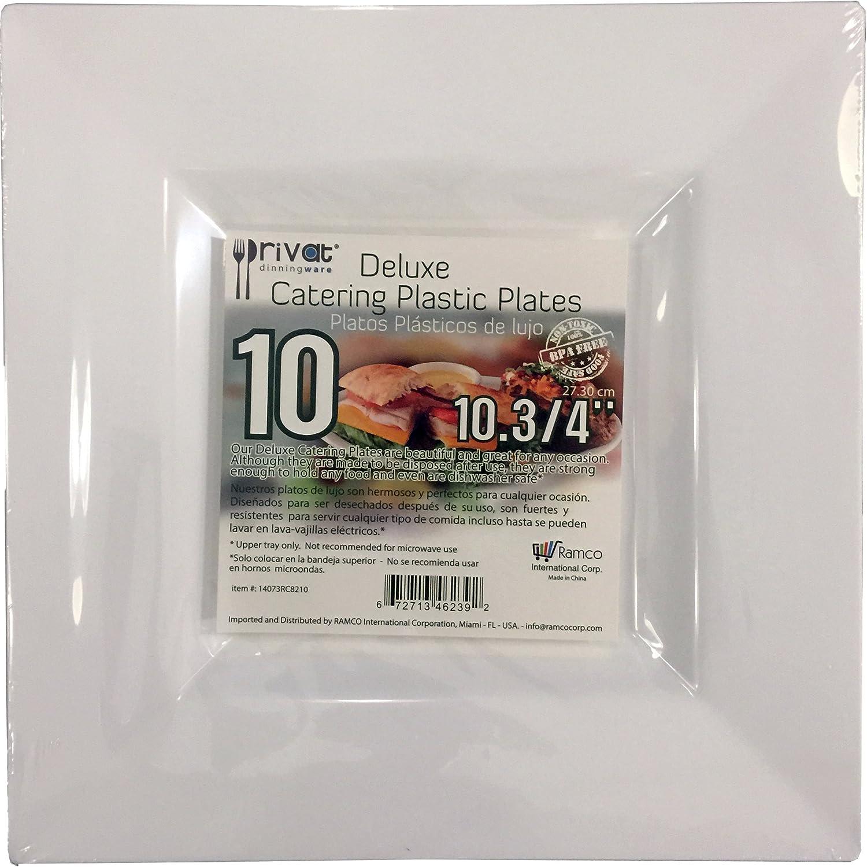 Amazon.com | Privat 120 (10 3/4) Inch) Square plates, DELUXE ...