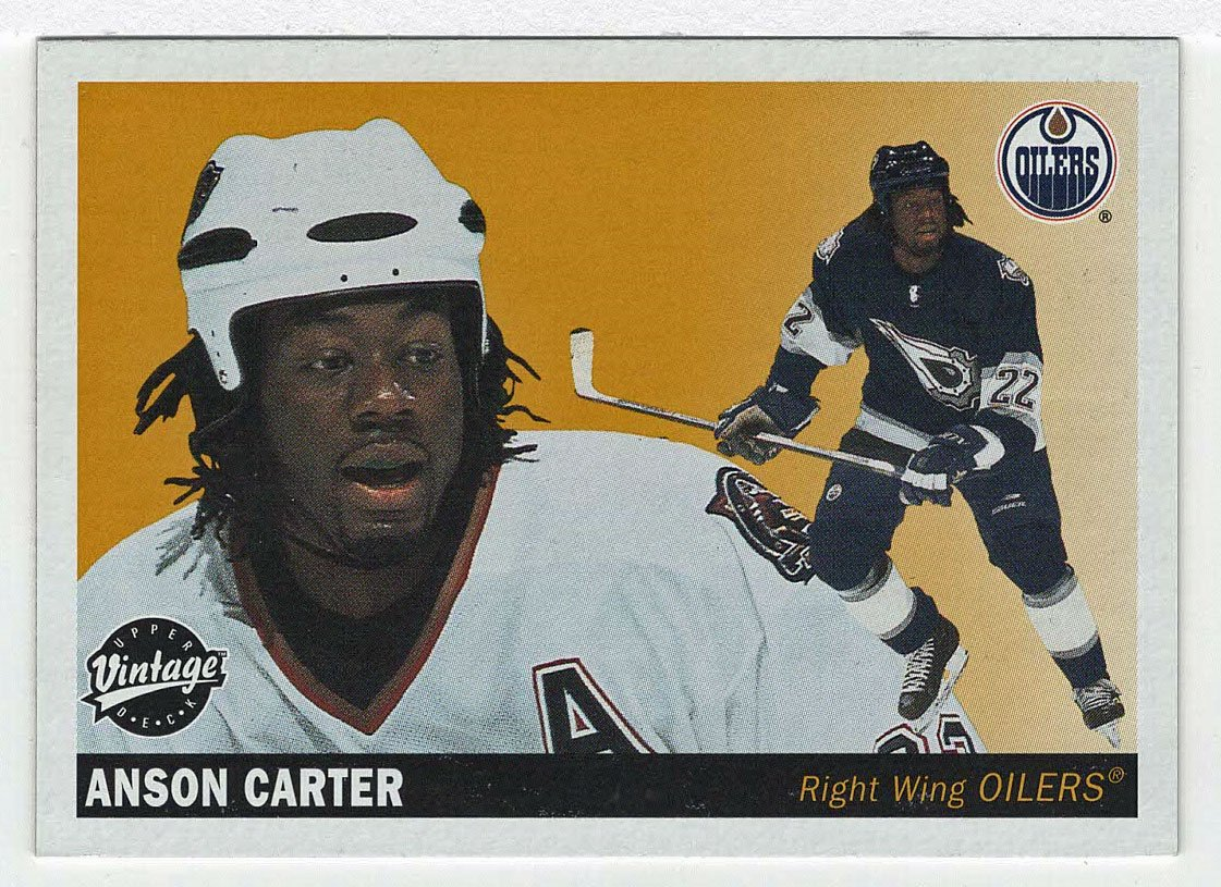 Amazon.com : Anson Carter (Hockey Card) 2002-03 Upper Deck Vintage # 106  NM/M : Everything Else