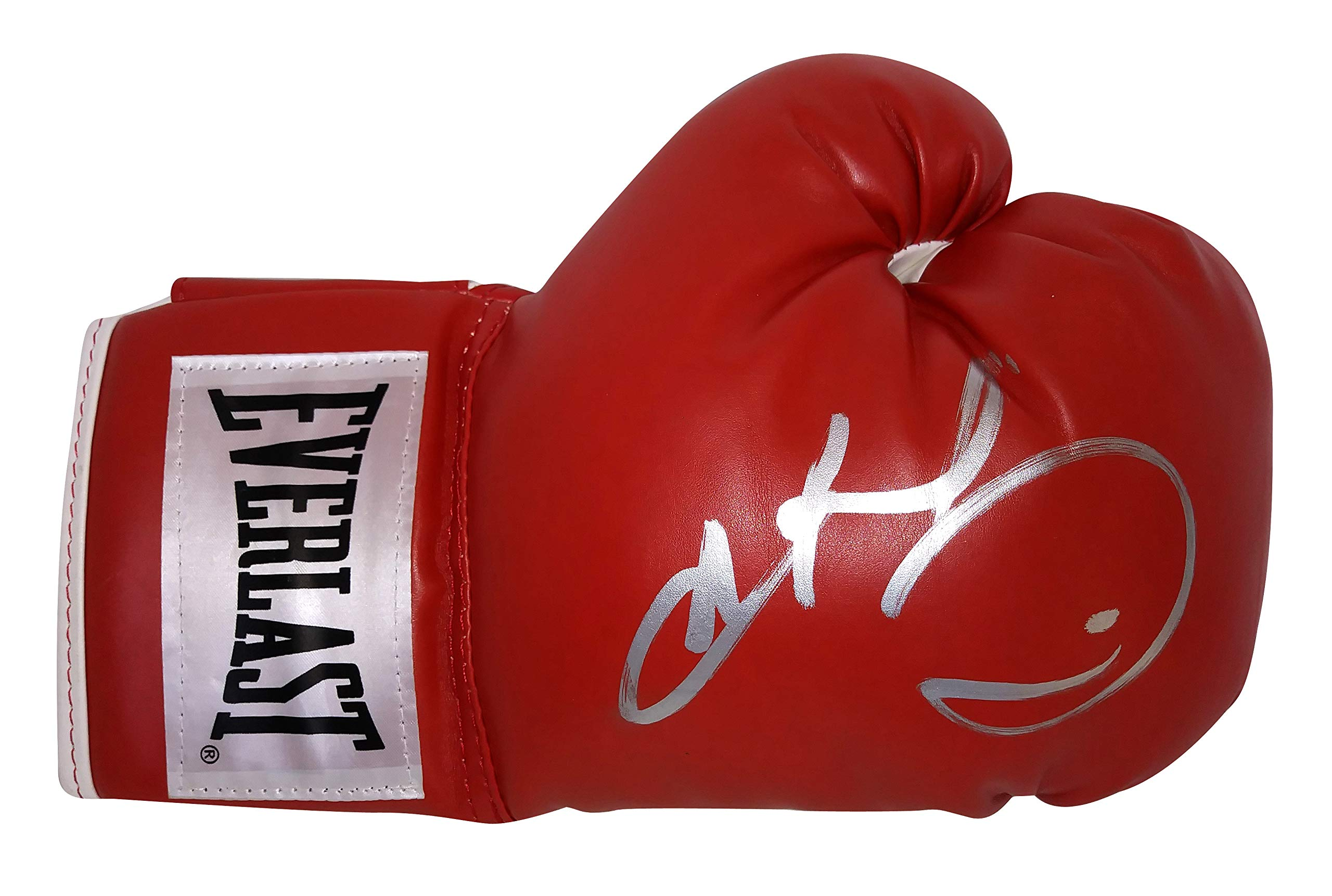 Sugar Ray Leonard Autographed Hand Signed Everlast Red Boxing Glove with Proof Photo of Signing, International Boxing Hall of Fame, COA