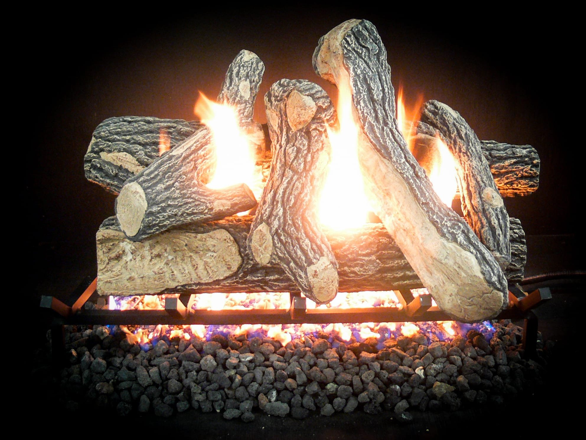 30 inch Complete Match Light Canyon Natural Gas Log Kit by Ergode