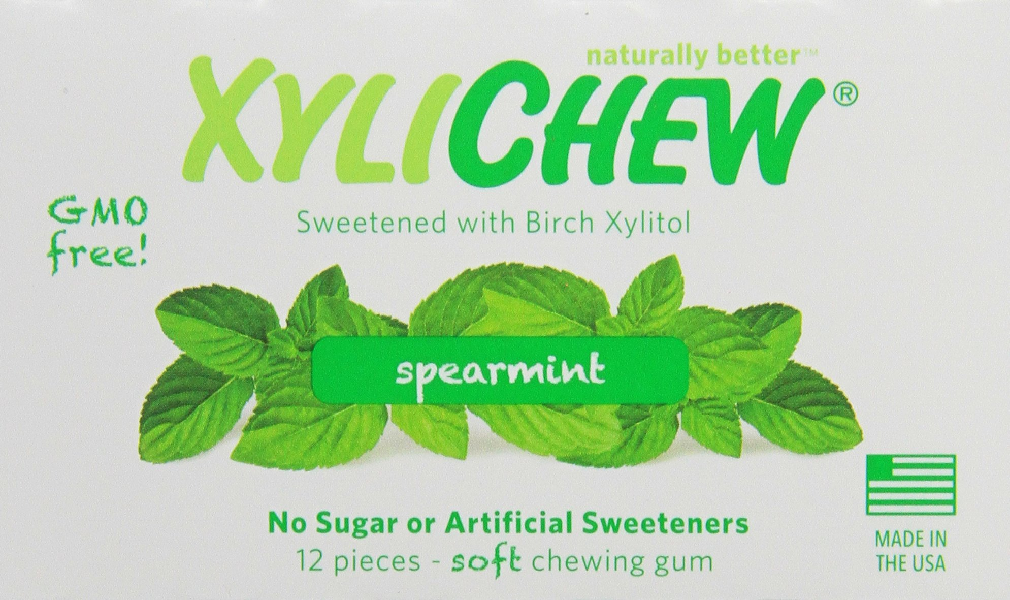 Xylichew Spearmint Counter Display Chewing Gum, 12 Count by Xylichew