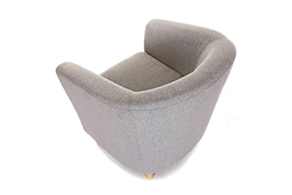 Delightful Fabric Tub Chair Home Or Business Use (LIGHT GREY): Amazon.co.uk: Kitchen U0026  Home