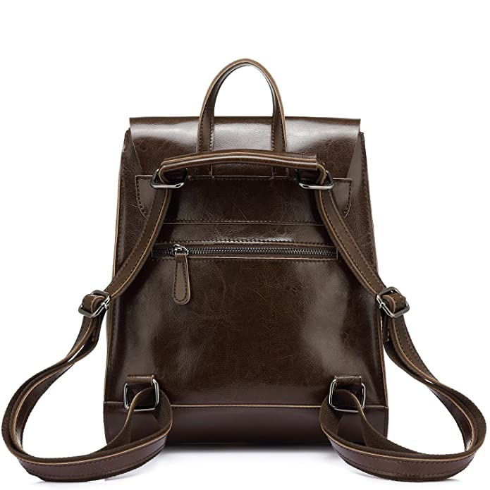 67243d5fb068 Amazon.com: Realer Leather Convertible Backpacks Purse for Women ...