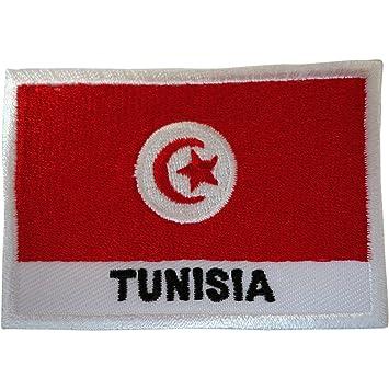 Bandera de Túnez parche hierro en coser en la ropa bolsa Túnez África bordado Badge: Amazon.es: Hogar