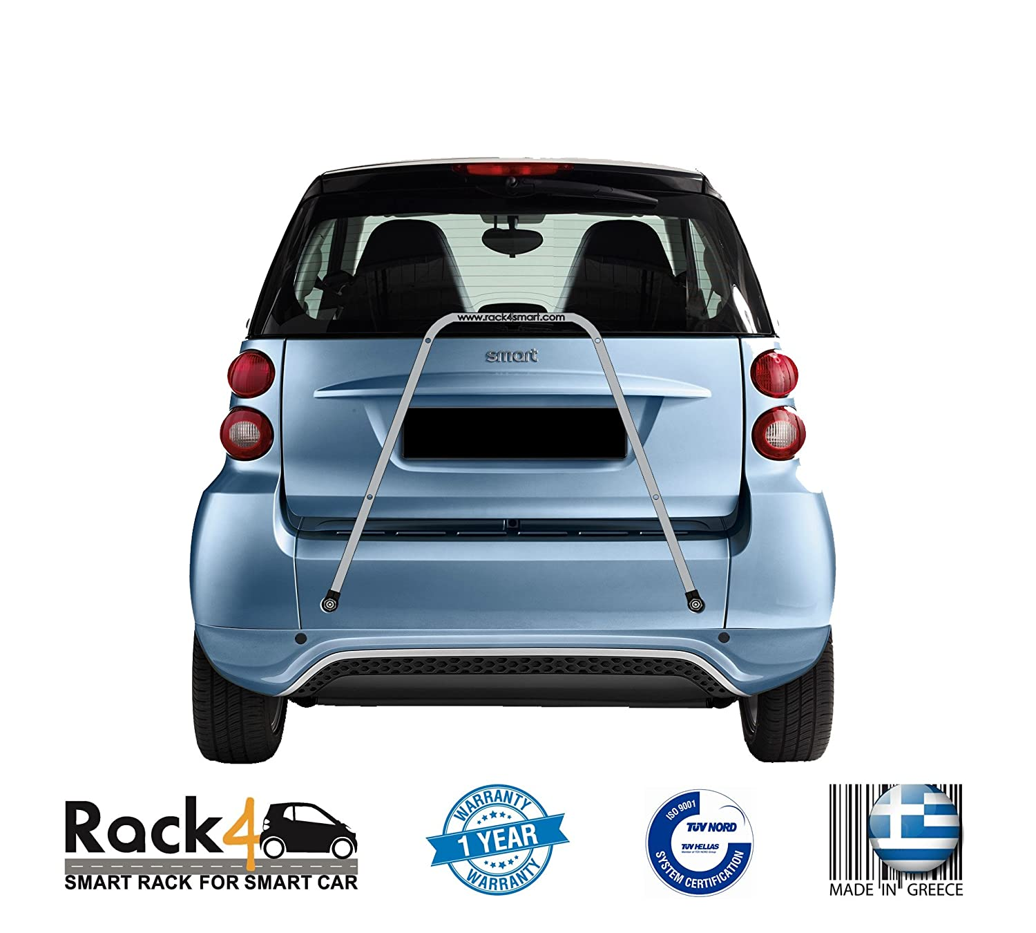 Amazon.com : 2 Bicycles Rack for Smart Fortwo 451 Cabrio - Coupe (Black) by Rack4smart : Sports & Outdoors