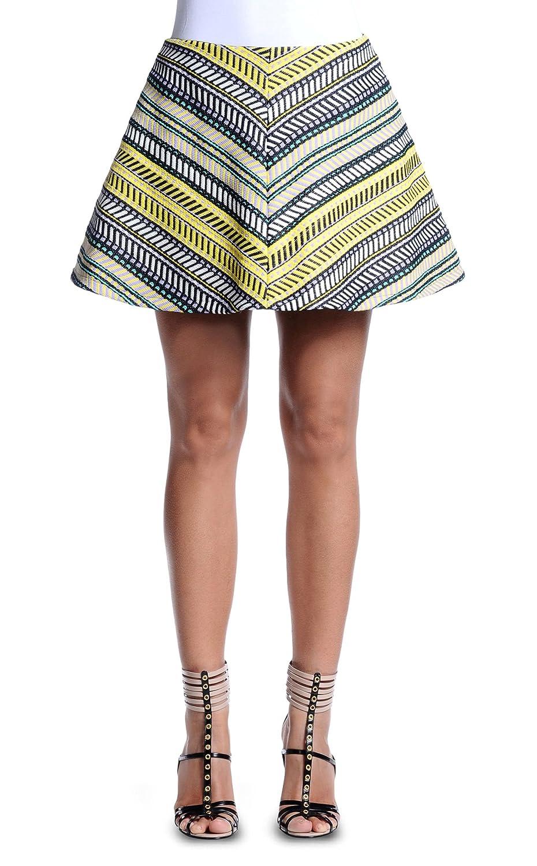 Just Cavalli Women's Striped A-Line Skirt US 4 IT 40