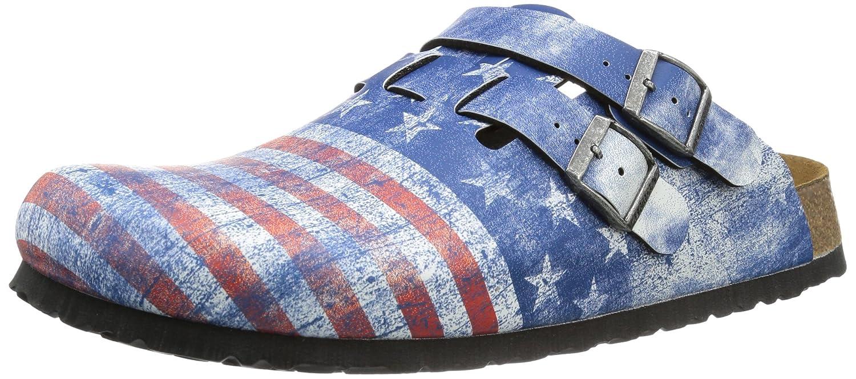 Mehrfarbig (Flag Stars & Stripes) Birki Unisex-Erwachsene KAY BF DD DF Pantoletten