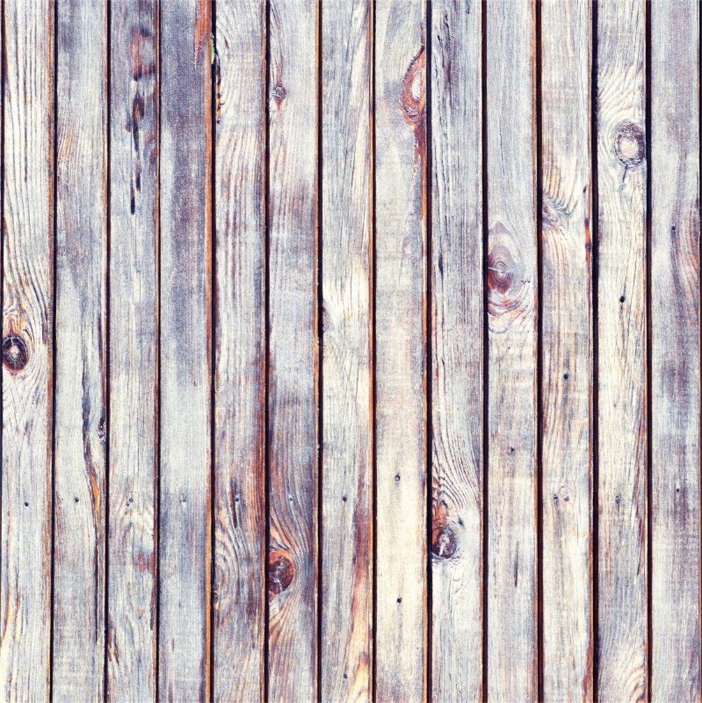 csfoto 5 x 5ft背景の木製壁ヴィンテージパターン写真バックドロップ素朴なPlank Dirty Rough古い自然床レトロGrunge Timber個人写真Studio小道具ビニール壁紙   B07FCPBL6G
