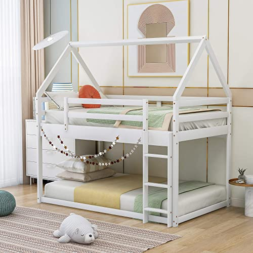 Twin Over Twin Low Bunk Bed