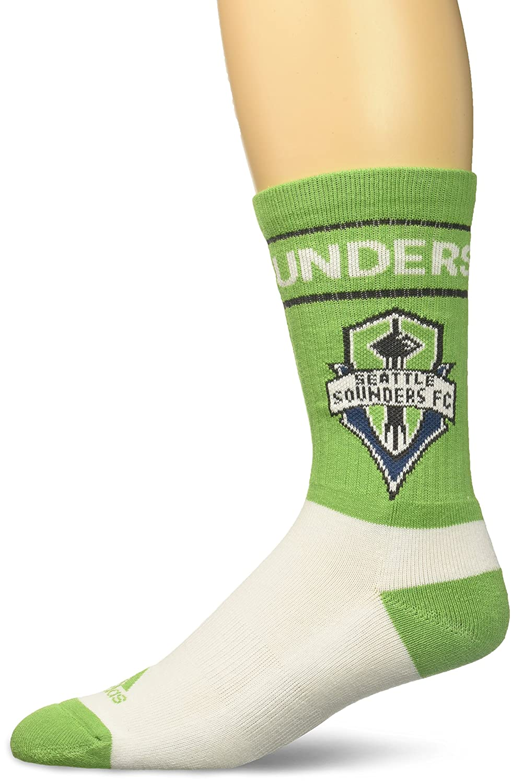 MLSメンズチーム名&ロゴクルーソックス B0744LVR13 Size 12-15|グリーン|Seattle Sounders FC グリーン Size 12-15