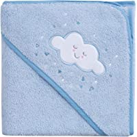 Clevamama Apron Baby Towel, Soft Cotton - Blue
