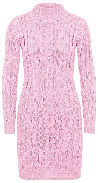 3f6d726501ee ZEE FASHION Ladies Womens Long Sleeve Polo Neck Cable Knitted Jumper ...