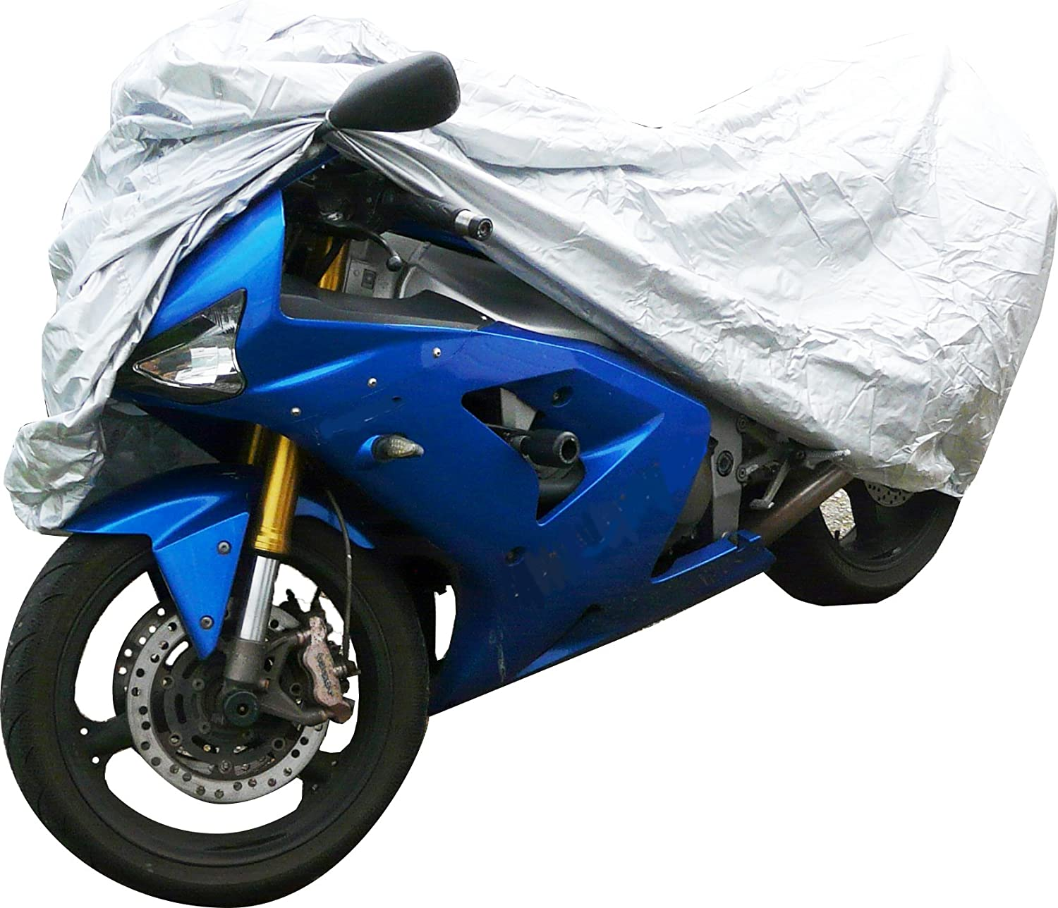 Up to 2.24m Polco POLC153 Water Resistant Motorcycle Cover-Medium