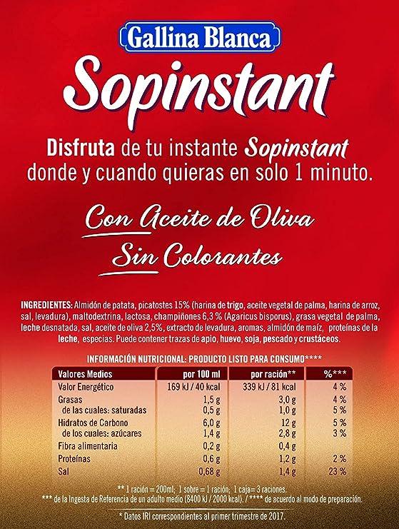 Gallina Blanca Sopinstant Crema de Champiñones con Picatostes ...