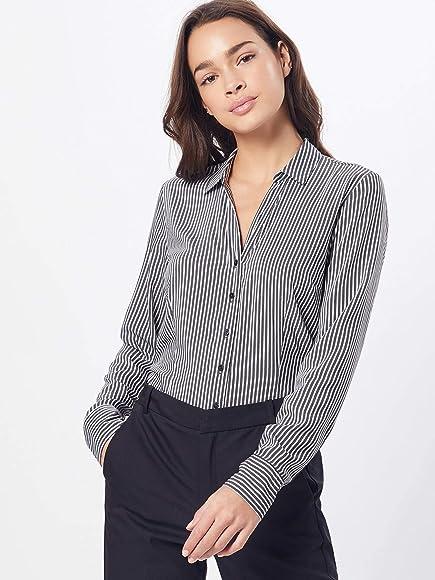Vero Moda Vmerika L/s Body G-String Shirt Blusa, Negro (Black Stripes: Thin), 36 (Talla del Fabricante: X-Small) para Mujer: Amazon.es: Ropa y accesorios