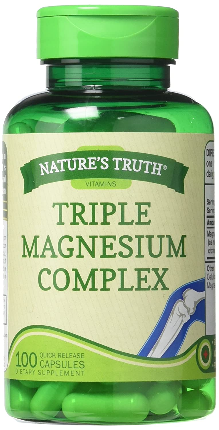 Amazon.com: Natures Truth 400 mg Magnesium Triple Complex Supplement, 100 Count: Health & Personal Care