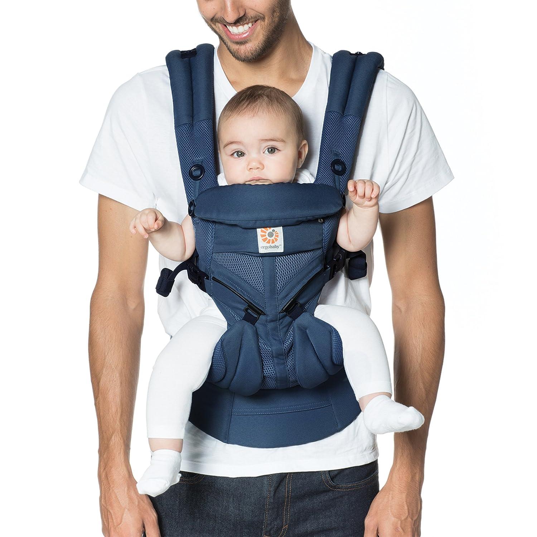 Ergobaby OMNI 360 Cool Air Mesh Baby Carrier, Midnight Blue BCS360PMIDBLU