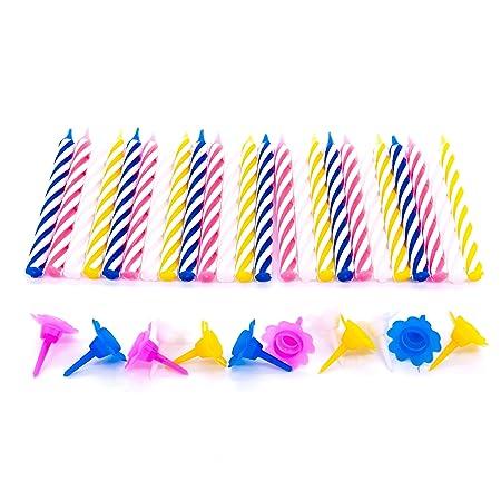 24 velas clásicas de cumpleaños: Amazon.es: Hogar