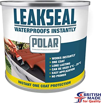 Polar Premium Black Instant Waterproof Roof Sealant Paint For Leaks 500ml Roof Sealing Repair Coating Paint For All Roof Types And Gutters Black 500ml Amazon Co Uk Diy Tools