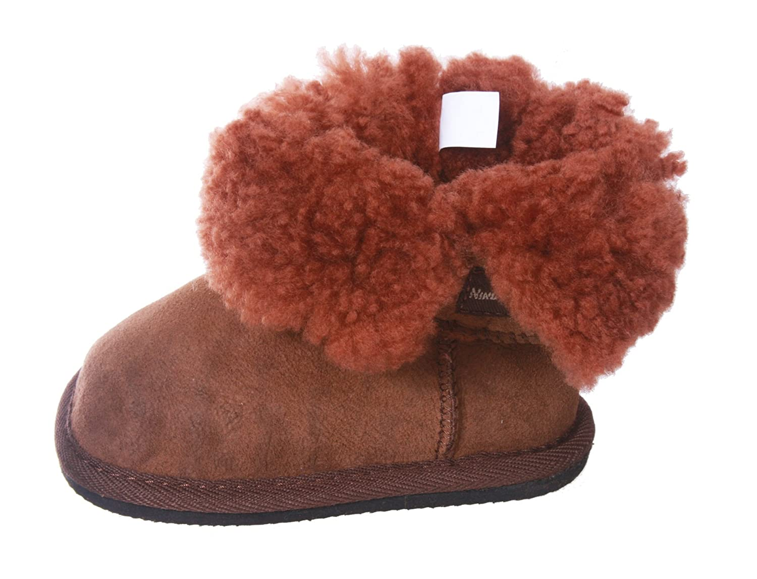 Amazon.com | NINO Infants Genuine Suede Shearling EVA outsole Boots | Boots