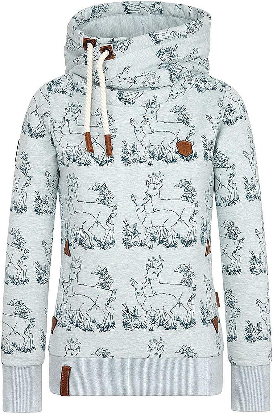 Naketano Sweatshirt heritage pine green melange Men's Print