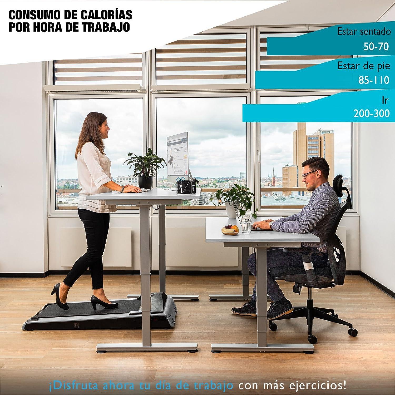 Sportstech Cinta de Correr DESKFIT DFT200 Office Desk (Escritorio de Oficina) Trabajo ergonómico y Movimiento al Mismo Tiempo, sin Dolor de Espalda.