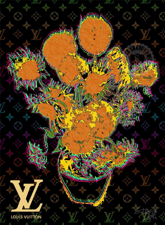 STAR DESIGN #sh10/11 GOGH ART ゴッホ ひまわり Louis Vuitton オマージュポスター A1サイズ(594×841mm) カラー sh11a B01LADO3U8 A1(594×841mm)|sh11a sh11a A1(594×841mm)