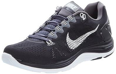 9b970b99c139 Mens Nike Lunarglide+ 5 Running Shoe BlackDark GreyWhite Size 9 ...