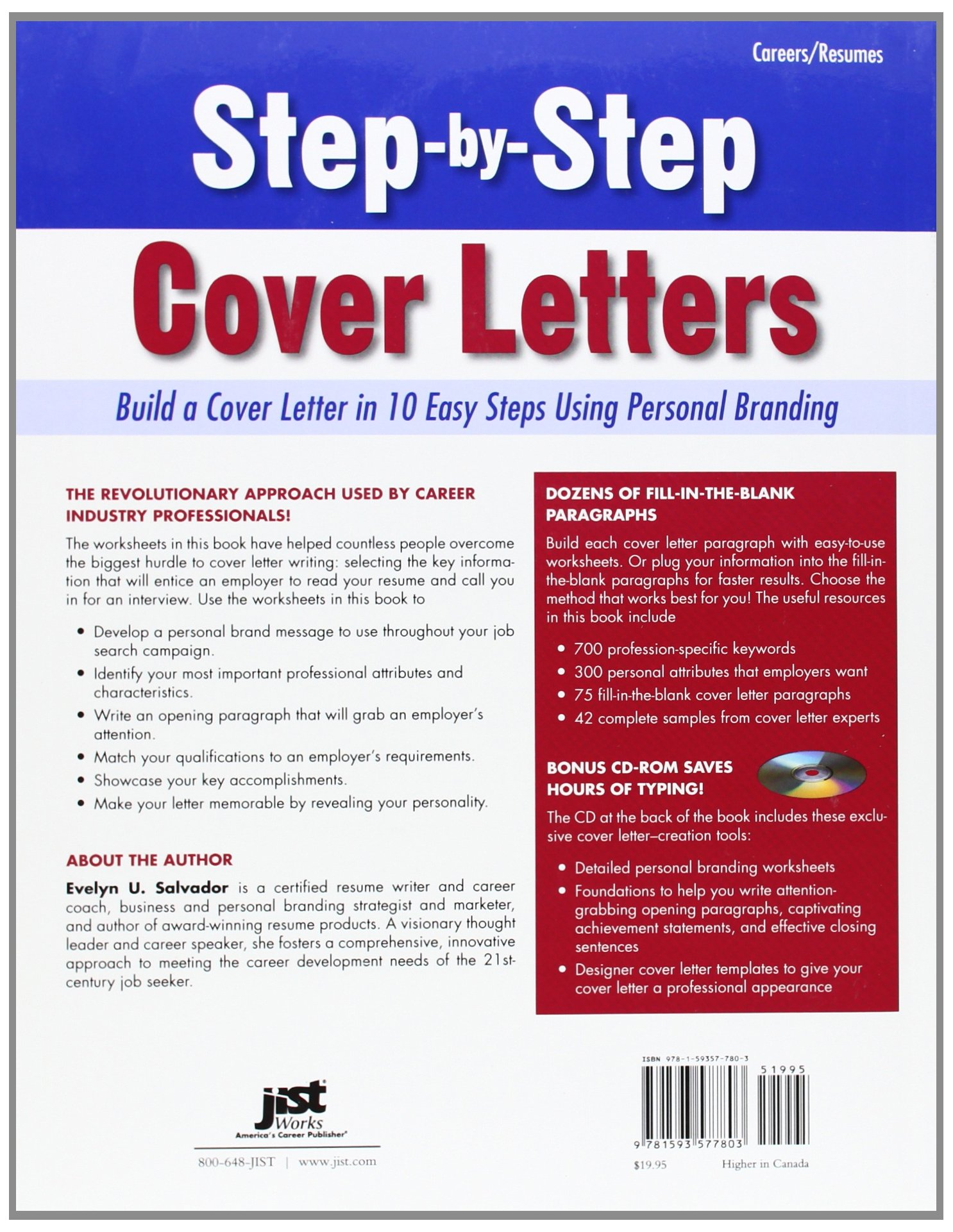 Step By Step Cover Letters: Build A Cover Letter In 10 Easy Steps Using  Personal Branding: Evelyn U Salvador: 9781593577803: Amazon.com: Books
