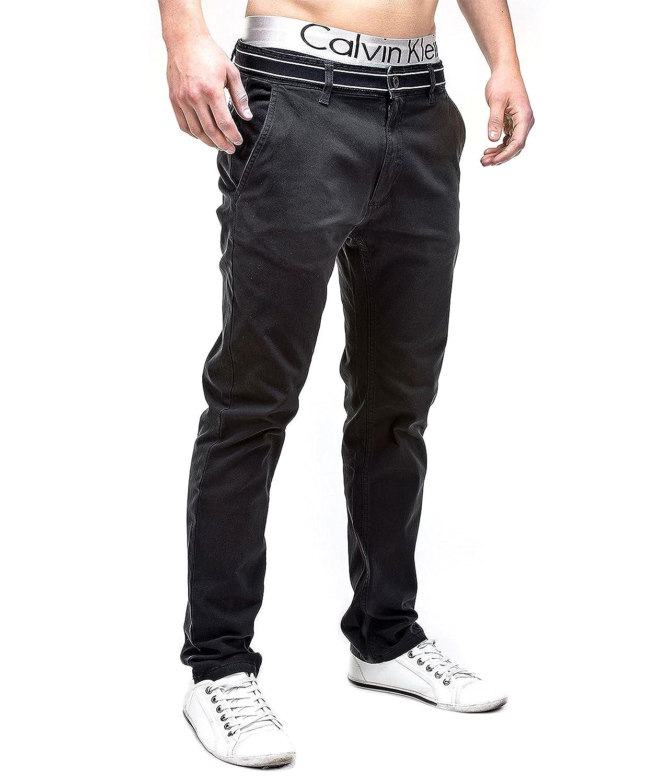 Betterstylz BanderasBZ Chino Pantalon Homme 5 couleurs (S-XXL) (XL,  Noir/Noir): Amazon.fr: Vêtements et accessoires