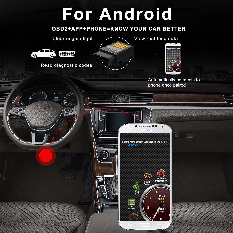 AUTOOL ELM327 Bluetooth V2.1 Universal OBD2 OBDII Diagnose Code ...