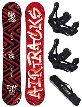 Airtracks Snowboard Set Pack Planche Dirty Brush Rocker Fixations