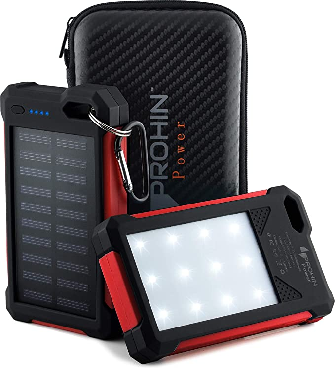 Cargador Solar, 20000 mAh Prohin Power Dual USB Outdoor ...