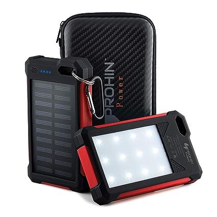 Amazon.com: Cargador solar, 20000 mAh Prohin Power Dual USB ...