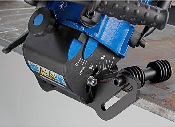 CS Unitec EKF 452.3 Portable Hand-Held Beveling Machine for 2.5 mm Weld Seams and Chamfer from 0-1//4 110V 13.5 Amp
