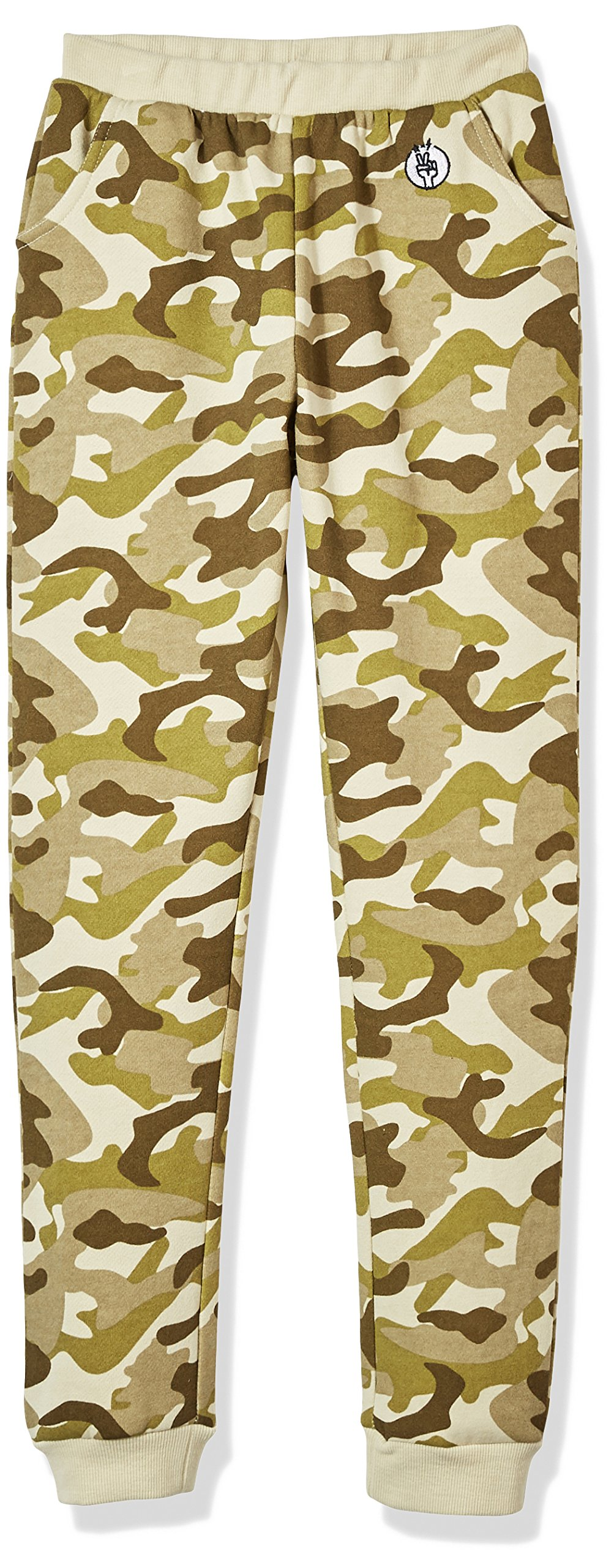 Kid Nation Kid's Camo Causal Jogger Pants for Boys and Girls L Olive