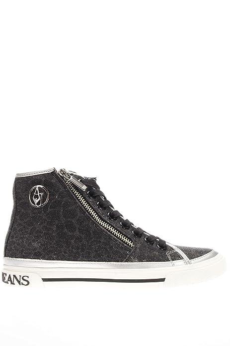 sports shoes d6e4d 02d44 Scarpe Armani Jeans Donna Sneakers Glitterate con zip ...