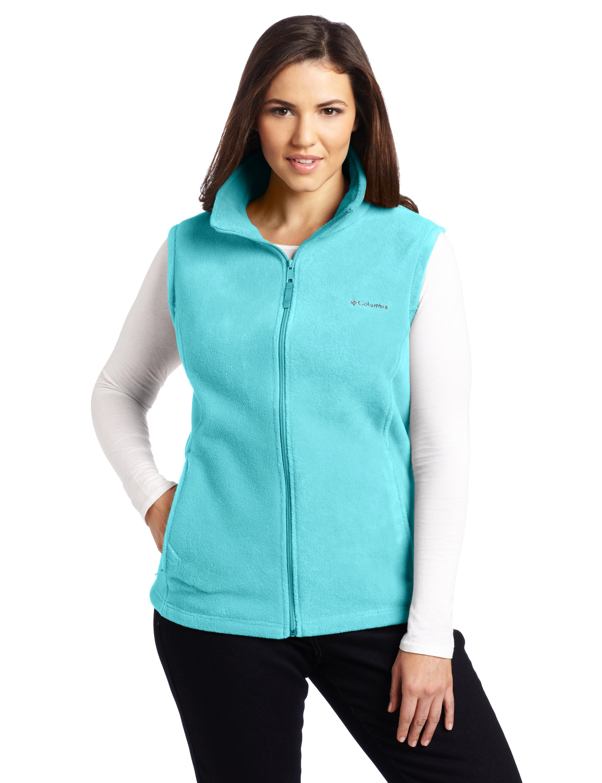 Columbia Women's Plus-size Benton Springs Plus Size Vest Outerwear, geyser, 3X