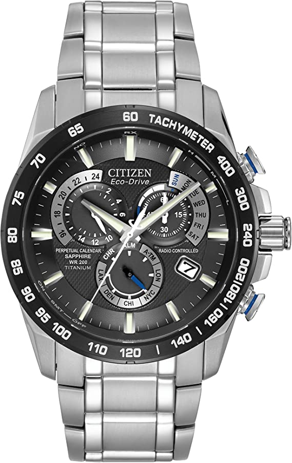 Citizen Eco-Drive Perpetual Chrono Atomic Timekeeping Titanium Watch for Men