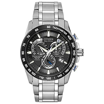 326b6436b Amazon.com  Citizen Men s Eco-Drive Titanium Perpetual Chrono Atomic ...