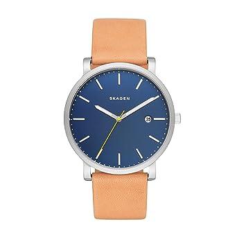 Skagen Reloj analogico para Hombre de Cuarzo con Correa en Piel SKW6279: Amazon.es: Relojes