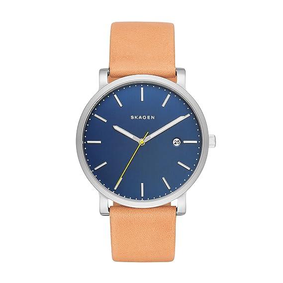 Skagen Reloj analogico para Hombre de Cuarzo con Correa en Piel SKW6279