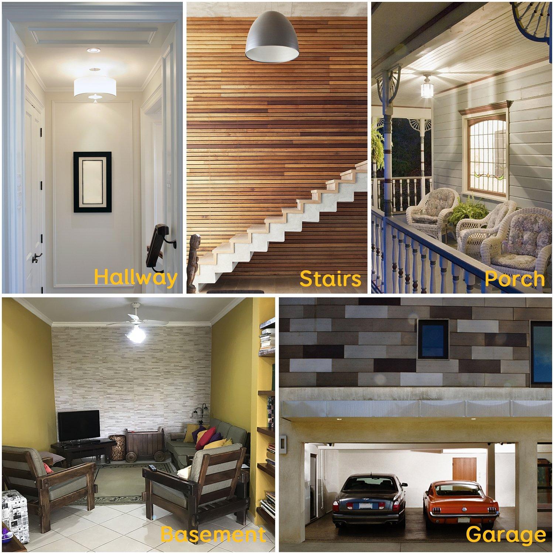Stripsun Radar Motion Sensor Light Bulb, 7W LED Smart Bulb, Auto On/Off Sensor LED Light Bulb, Dusk to Dawn Motion Sensor Night Light For E26/E27 Base Indoor/Outdoor (6000K Bright White)