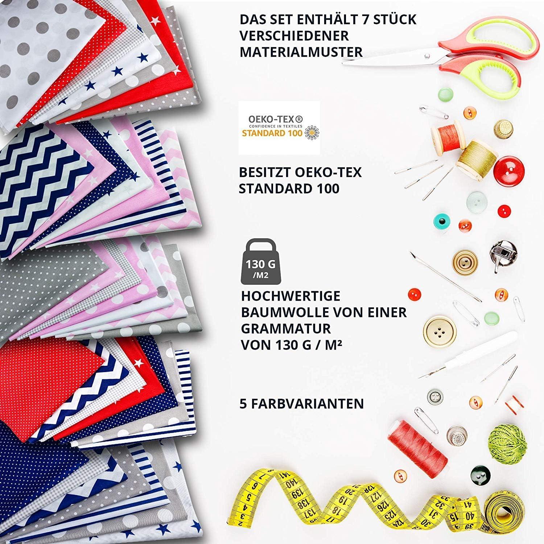 precio de telas por metro loneta paquete de tela para coser decorativa 7 piezas cada 50 x 80 cm retales de tela-s patchwork
