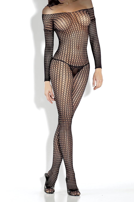 Amazon Fantasy Lingerie Womens Long Sleeve Crochet Net