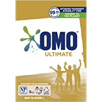 OMO Ultimate Laundry Detergent Washing Powder Front and Top Loader, 5kg (Packaging May Vary)